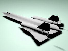 SR-71 Reconnaissance Aircraft 3d model preview