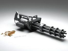 M134 Minigun Machine Gun 3d preview