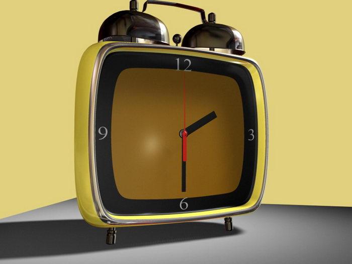 Modern Alarm Clock 3d rendering