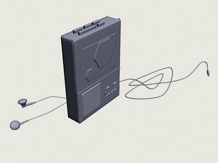 Walkman Cassette Player 3d rendering