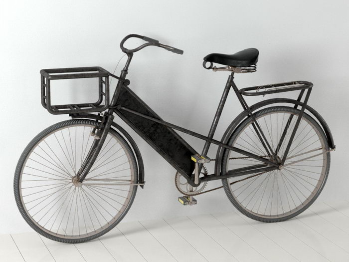 Antique Bicycle 3d rendering