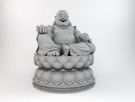 Laughing Buddha Statue 3d preview