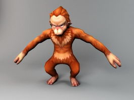 Cartoon Monkey 3d preview