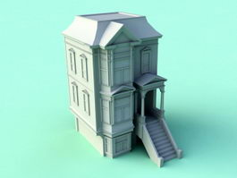 Small Colonial House 3d preview