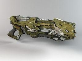 Alien Blaster Gun 3d preview
