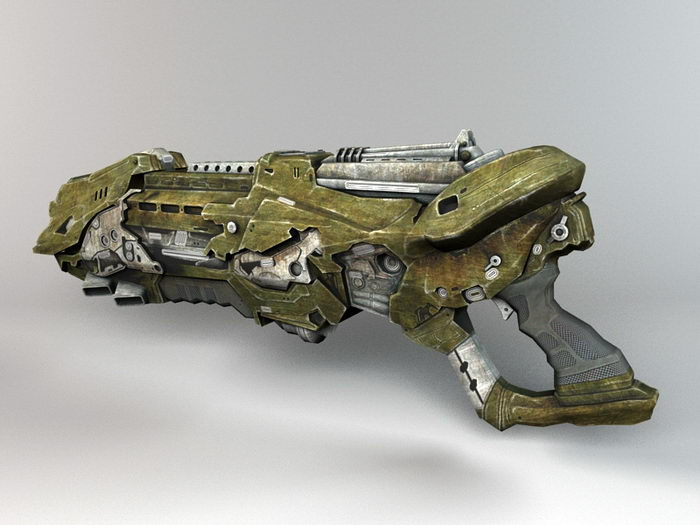 Alien Blaster Gun 3d rendering
