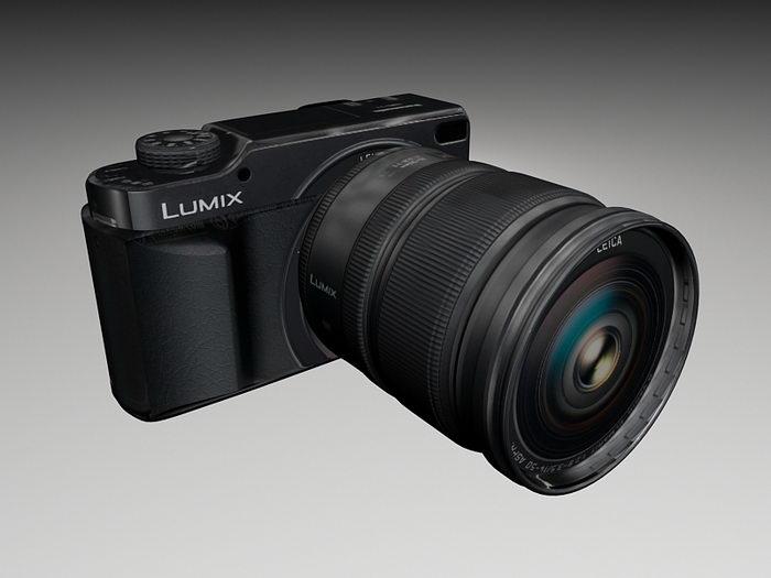 Panasonic Lumix DMC-L10 3d rendering