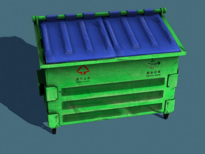 City Waste Container 3d rendering