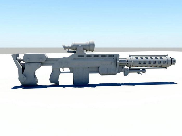 Sci-Fi Combat Rifle 3d rendering