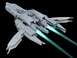 Sci-Fi Starship Art 3d preview