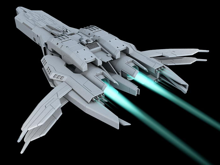 Sci-Fi Starship Art 3d rendering