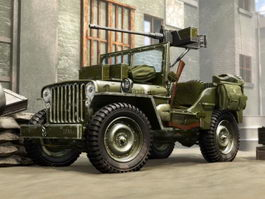 Willys Army Jeep 3d preview