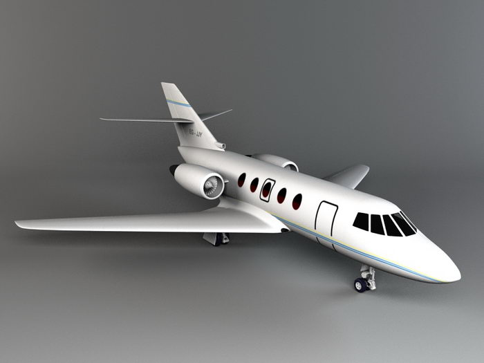 Small Private Plane 3d rendering