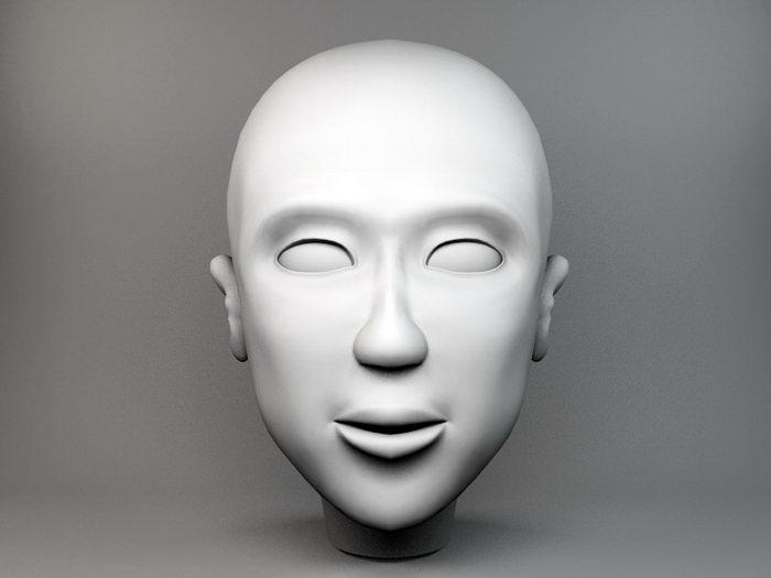 Female Head 3d rendering