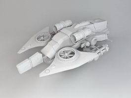 Sci-Fi Gunship Concept 3d preview
