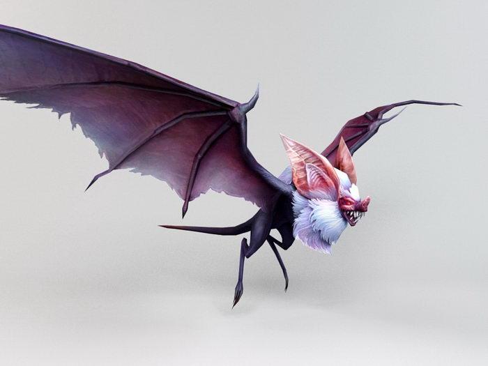 Anime Bat Creature 3d rendering
