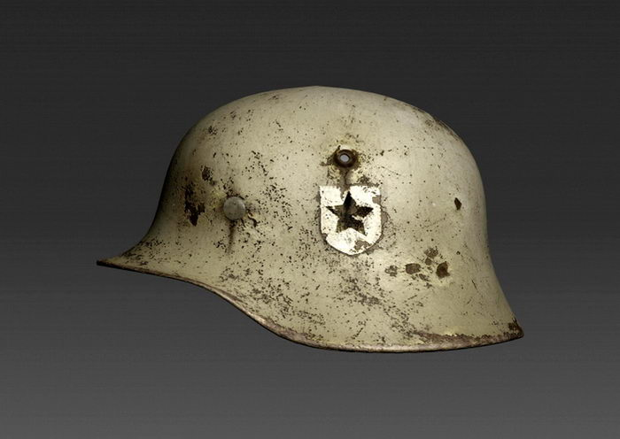 WW2 Military Helmet 3d rendering