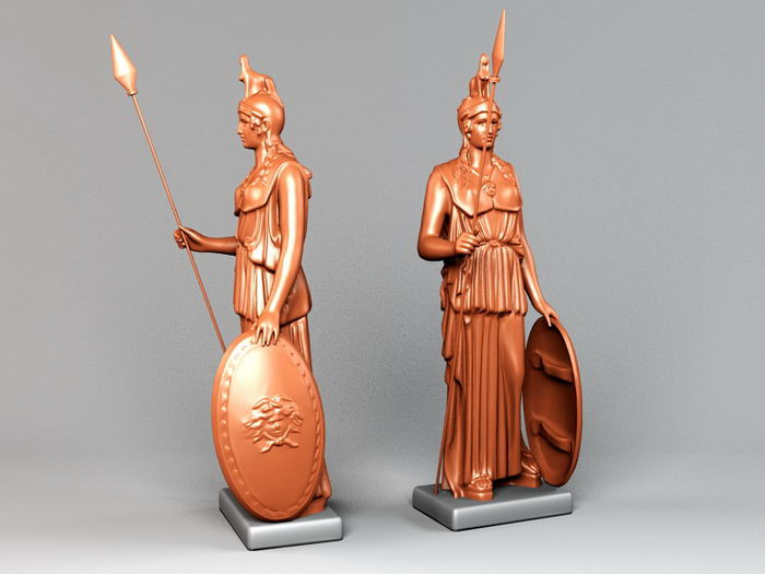 Statue of Athena 3d rendering