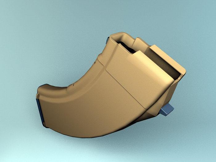 Assault Rifle Magazine 3d rendering