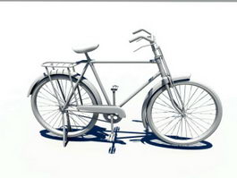 Old Bicycle 3d preview