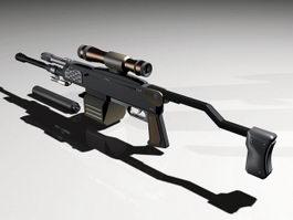 AR-36B Rifle 3d model preview