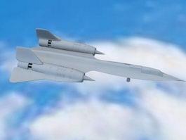 A-12 Blackbird 3d model preview