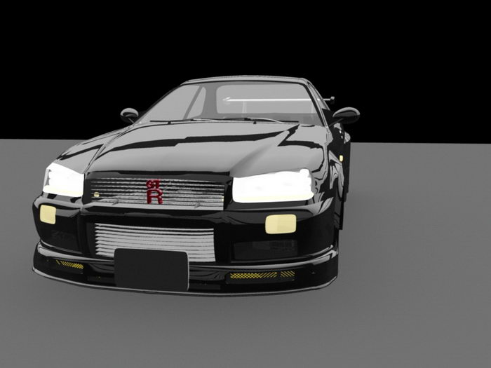 GTA Car 3d rendering