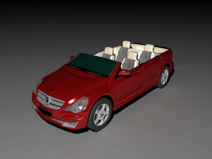 Mercedes-Benz Roadster 3d rendering