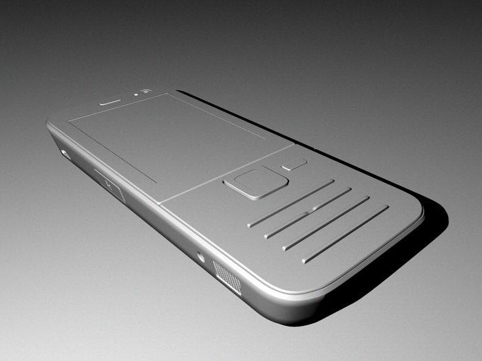 Nokia N78 3G Smartphone 3d rendering