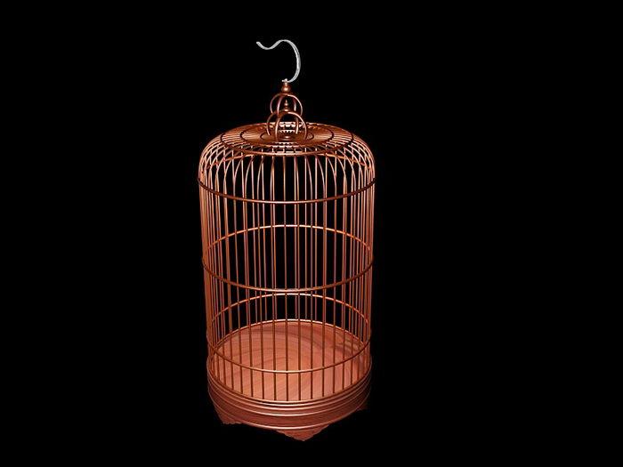 Vintage Bird Cage 3d rendering