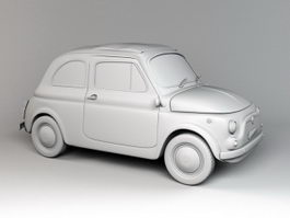 Fiat 500 Small City Car 3d preview