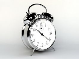 Silver Alarm Clock 3d preview