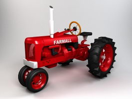 Farmall Tractor 3d preview