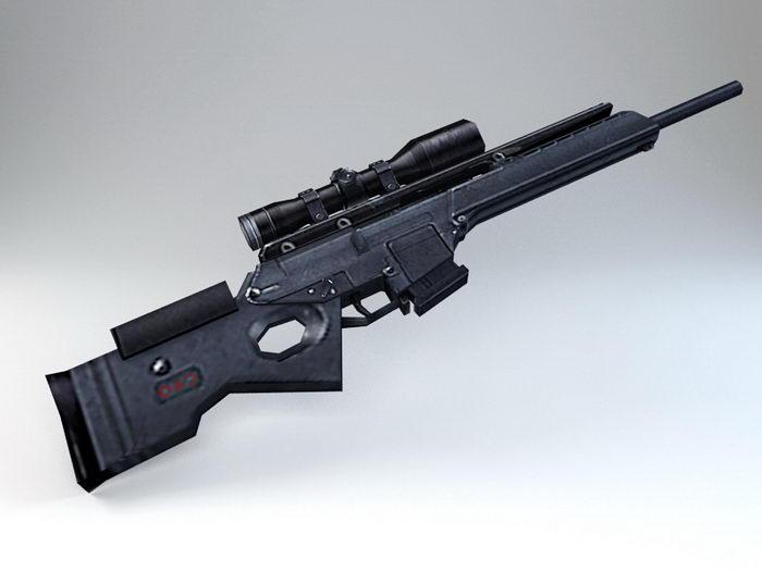 SL8 Rifle 3d rendering