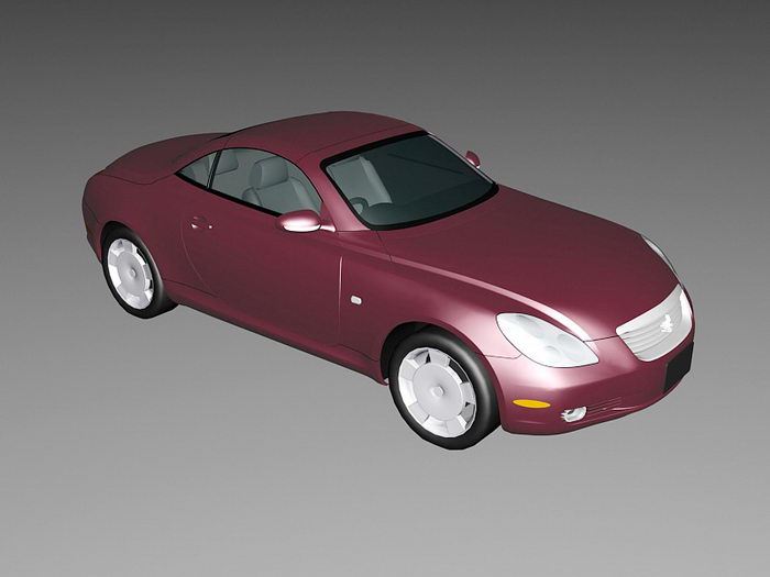 Toyota Soarer Coupe 3d rendering