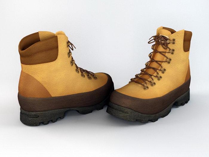 Winter Boots 3d rendering