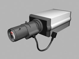 CCTV Surveillance Camera 3d preview