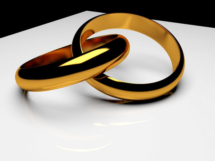 Gold Ring 3d rendering