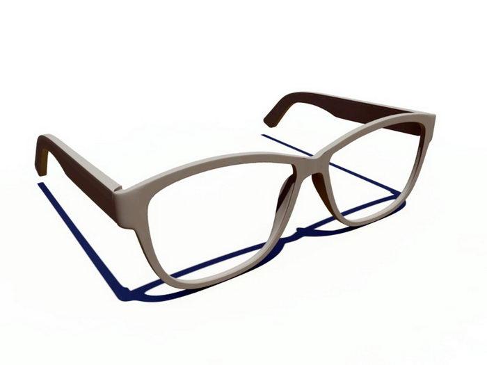 Glasses Frame 3d rendering