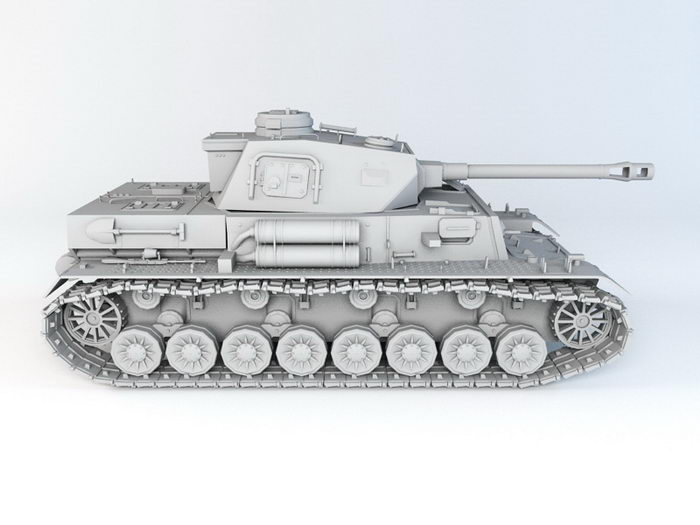 German Leopard 2 MBT 3d rendering