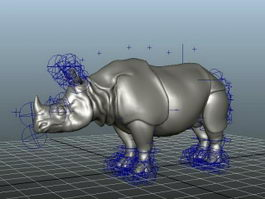 Rhino Rigged 3d preview