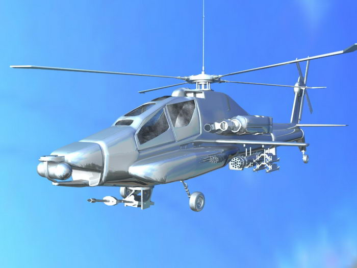 Army Apache 3d rendering