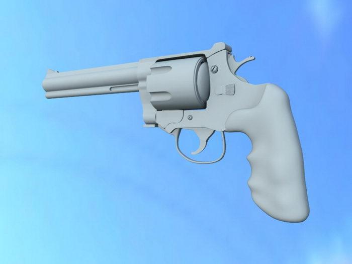 Western Revolver Gun 3d rendering