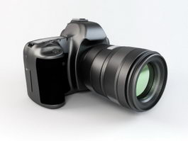 DSLR Camera 3d preview