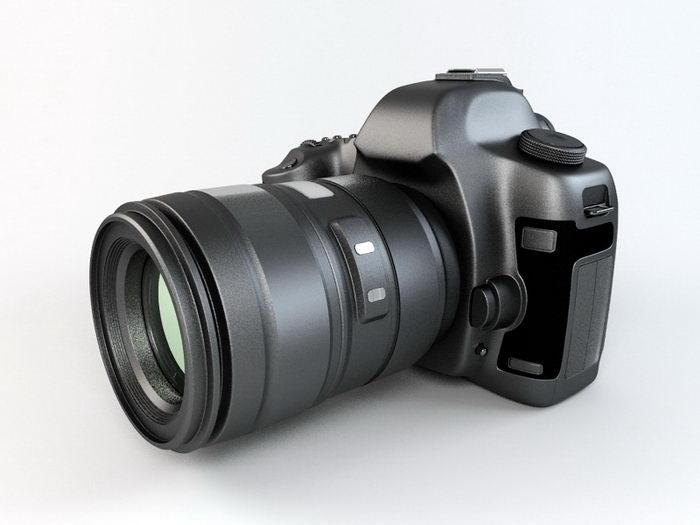 DSLR Camera 3d rendering