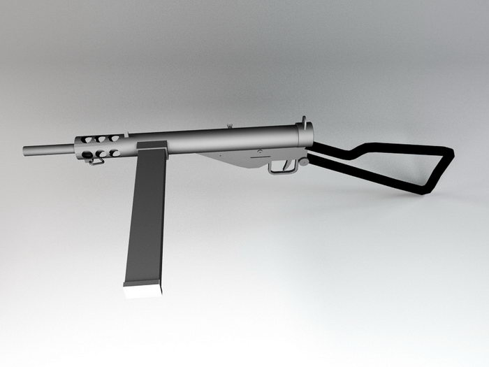 Sten Submachine Gun 3d rendering