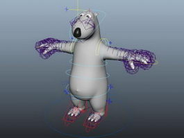 Backkom Bear Cartoon Rig 3d preview