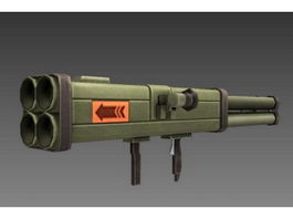 Multishot Incendiary Rocket Launcher 3d preview