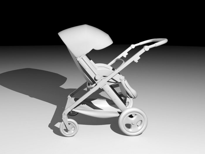 Baby Carriage 3d rendering