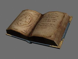 Old Magic Book 3d preview